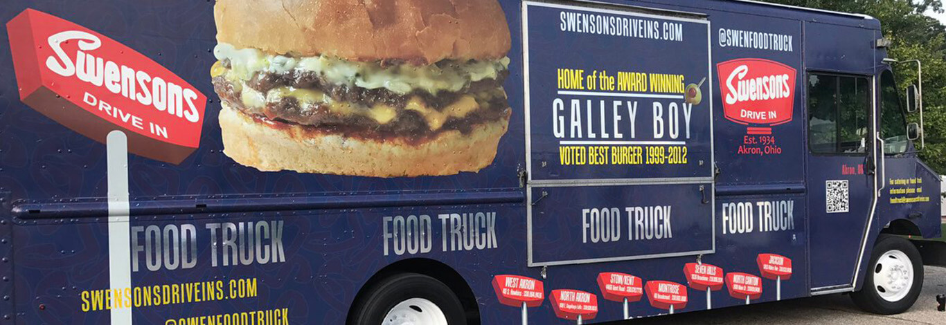 Have Swensons food truck cater your next event! Birthday Catering • Wedding Catering • Office parties • Graduations • Grand openings • Bat & Bar mitzvahs • Block parties | Ohio catering